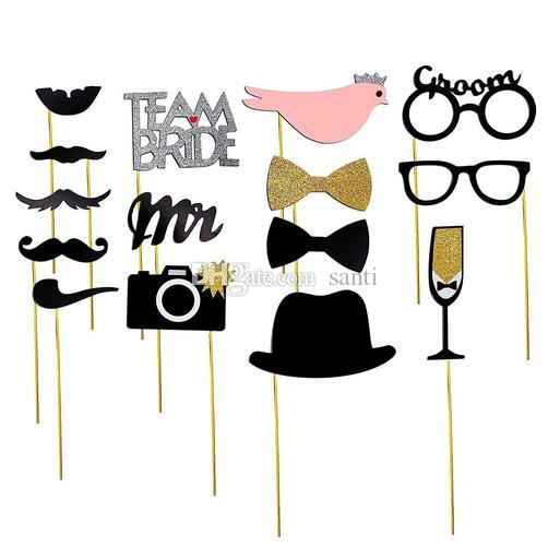 New Photo booth MrMrs Just Married Photobooth Props Bridal Shower Wedding Party Decoration bride party wedding Photobooth