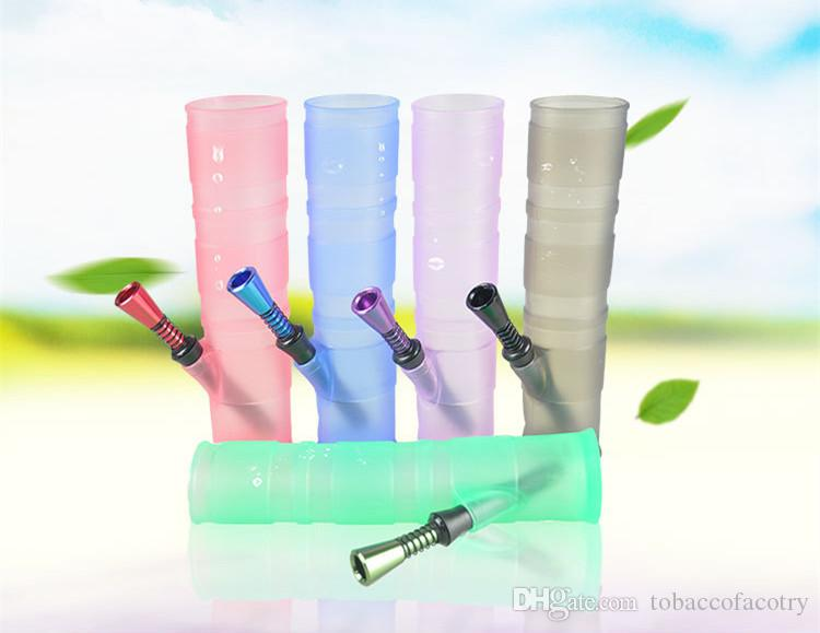 Roll-up-bowl foldable water pipe Colorful Silicone bong unbreakable water bongs glass pipe shisha hookah Smoking Oil Concentrate pipe