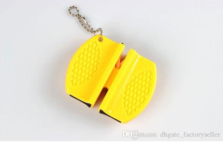 Mini Apontador de Faca de Cerâmica de Carboneto De Tungstênio Bolso Rápido Rod Sharpener Duplo sulco e design portátil venda Quente