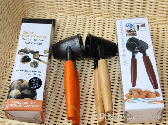 Nuss-Cracker verdicken Holzgriff Walnut Clamp Edelstahl Walnuss Clip Zange Opener Küche Werkzeuge Obst Gemüse Home Tool