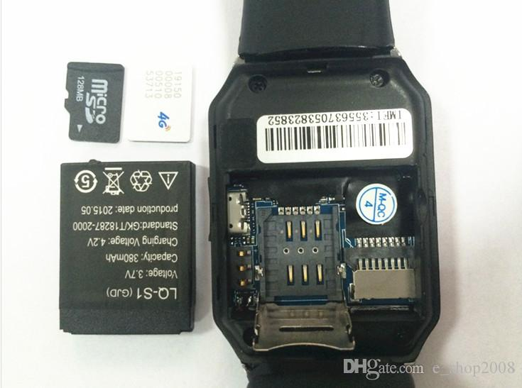 DZ09 Bluetooth Smart Watch SmartWatch para Apple Samsung IOS teléfono celular Android 1.56 pulgadas