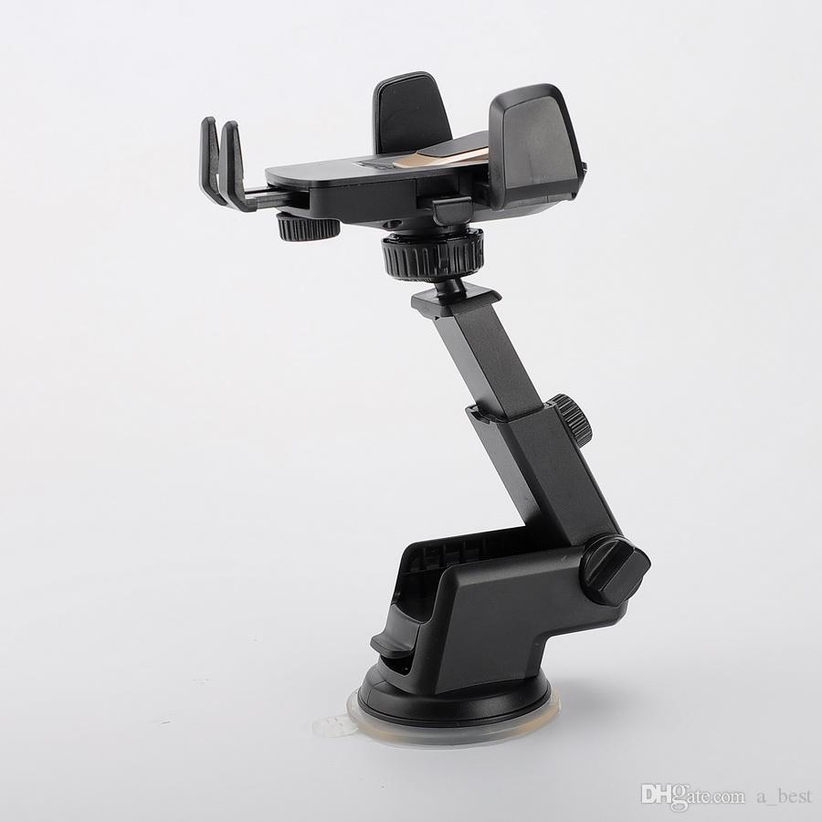 유니버설 360도 간편한 원터치 카폰, iPhone X MAX 핸디형 스마트 셀폰 홀더 석션 컵 크래들 스탠드 홀더 패키지 포함