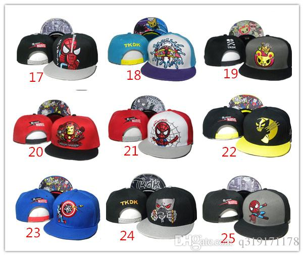 efe57f1ff2709 Compre Venta Al Por Mayor US Tokidoki Caps 26 Estilos TKDK Gorras  Ajustables Snap Back Hats Hip Hop Cap Moda Snapback Sombreros Para Niñas Y  Niños Sombrero ...
