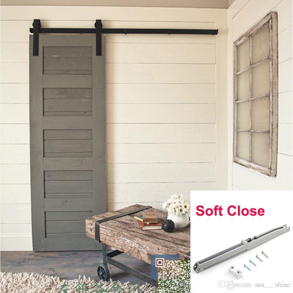 2018 Single 5ft American Country Style Barn Wood Door Hardware Kit