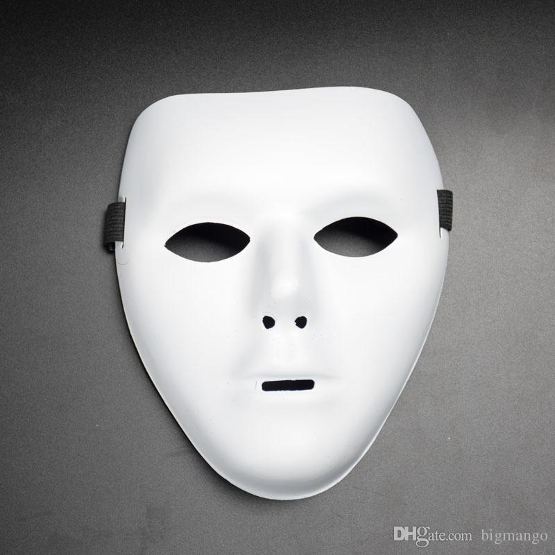 High quality hot sell section Eco-friendly white duo dancers party performances ghost step masks wholesale