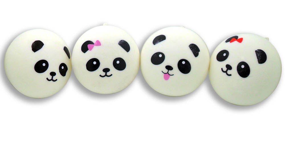 Hot Item 10 cm Jumbo Panda Squishy Soft Buns Cell Phone Key Chain Bread Phone Straps