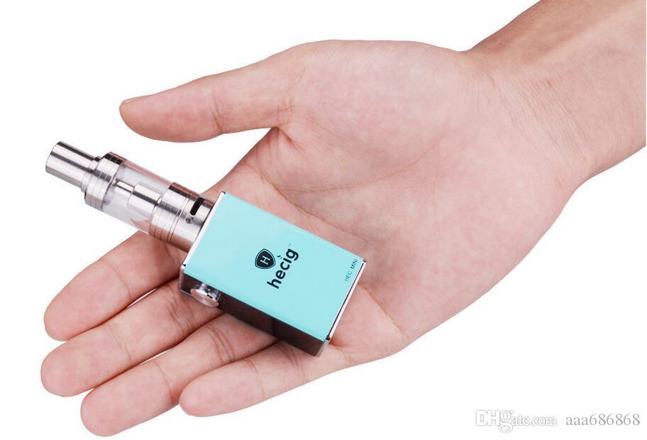 Mini electronic cigarette set 30W box mod 1050mah vape battery 2.5ml vaporizer tank ecig safe and health hookah instock HotSale
