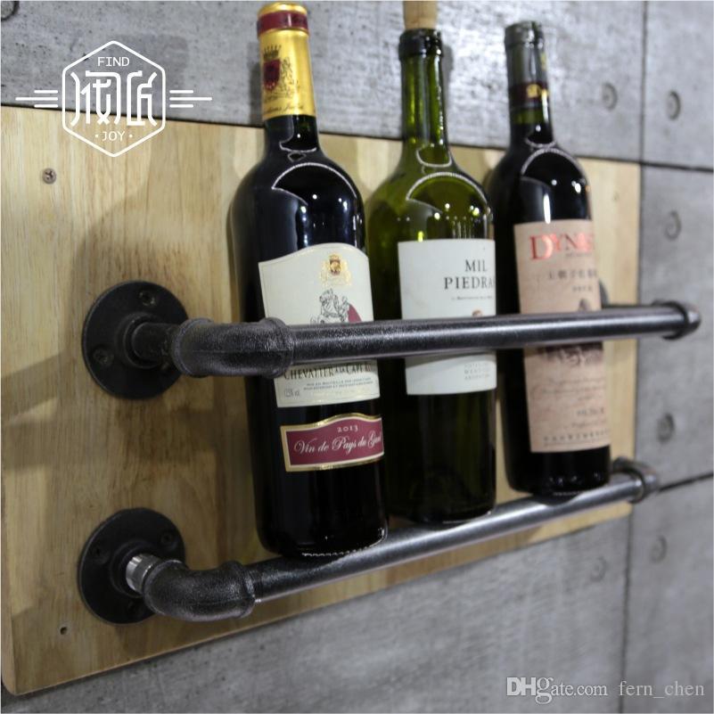 Acheter porte bouteilles en métal industriel porte bouteilles en métal porte bouteilles en vinyle en bois de 79 4 du fern chen dhgate com