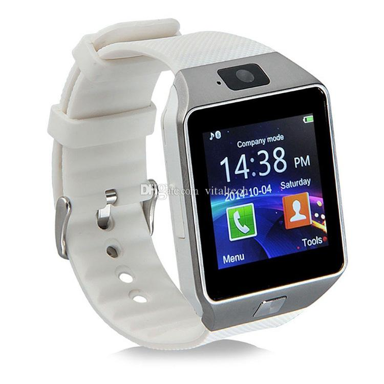 SmartWatch DZ09 Bluetooth Smart Watch с гнездом для SIM-карты для мобильного телефона Apple Samsung IOS Android 1.56-дюймовые умные часы pk gt08