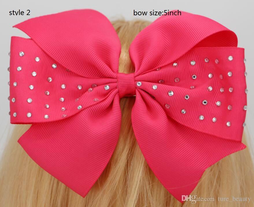 Nieuwe 6 inch boutique strass grosgrain lint pinwheel haar strikken clips voor baby meisjes tieners peuters pasgeboren 50 stks