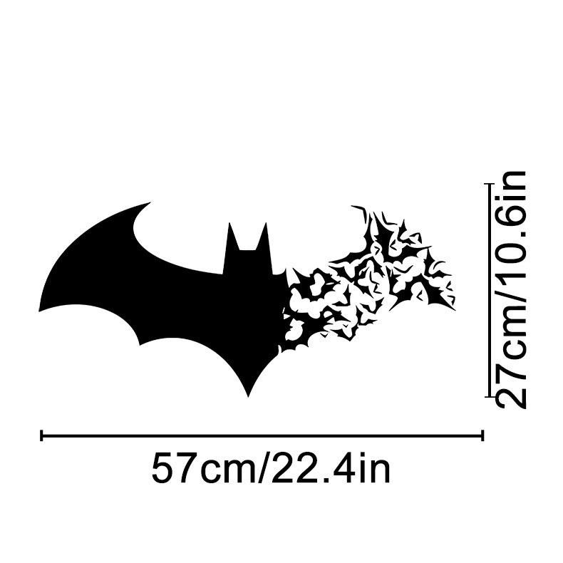 Batman bat vinyl wall decal home decor living room bedroom diy wallpaper removable wall stickers diy wall decals for kids rooms wall decals for nursery from