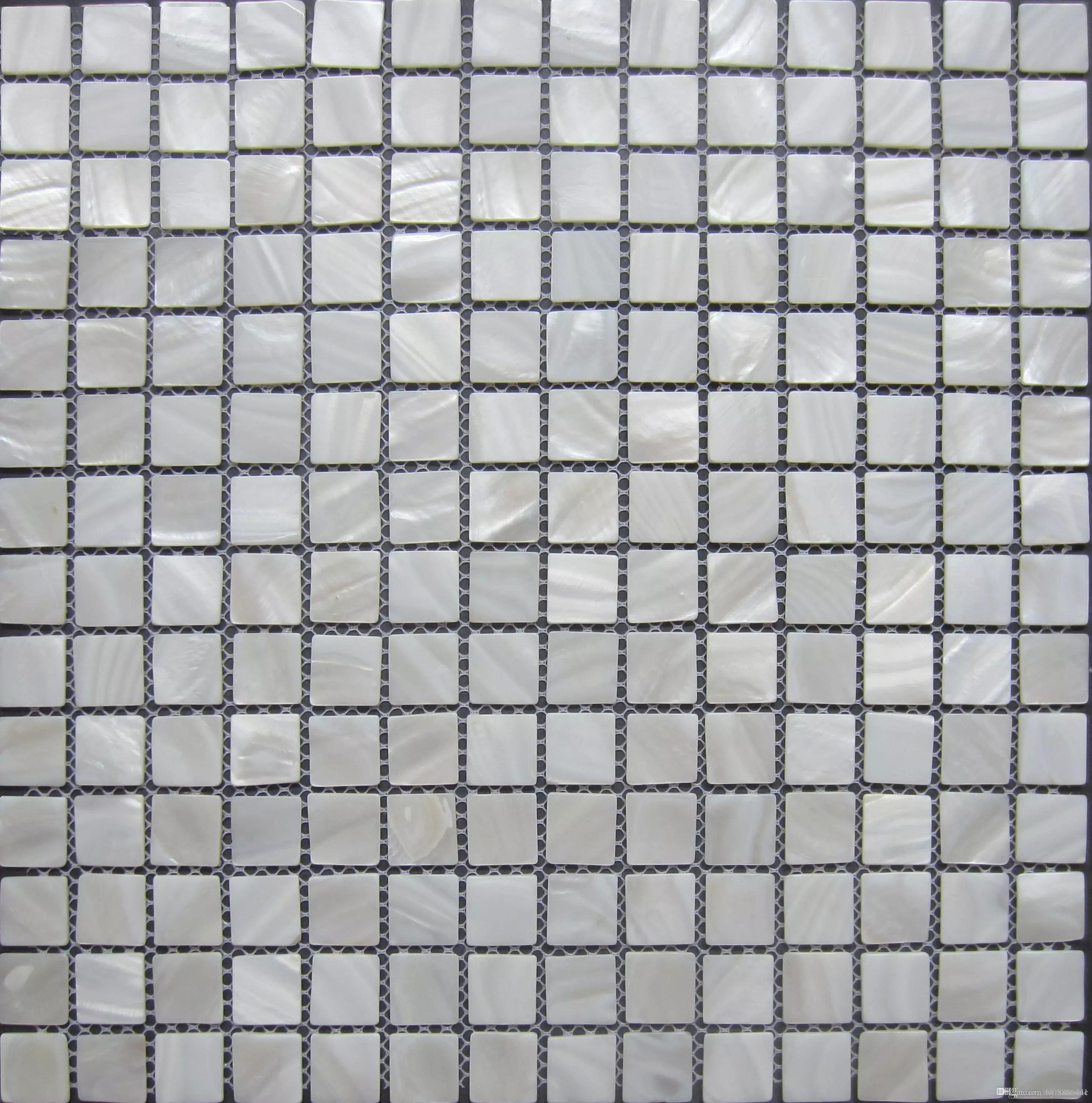 2017 lustre mosaico wall tiles; pure white mother of pearl shell
