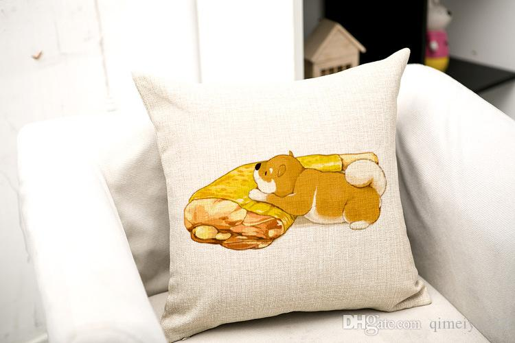Мода животных чехлы кошка рыба собака мясо для детей декоративные диван бросить подушку автомобиля стул Home Decor наволочка almofadas