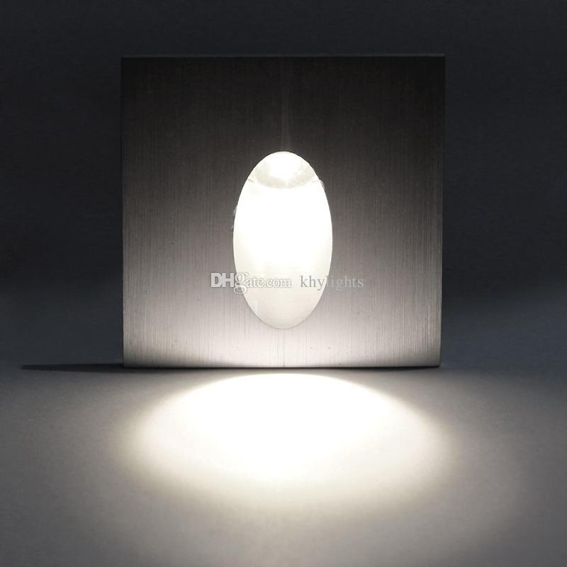 1X3 W Led Ayağı kare duvar lambaları merdiven için adım / fuaye, gömme duvar köşe ışıkları, ücretsiz kargo