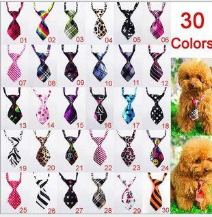 Heißer Verkauf Kostenloser versand hund haustier katze fliege krawatte kragen gemischt verschiedene farbe 120 stücke