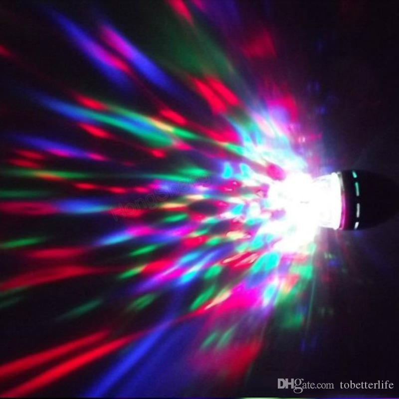 E27 3W RGB LED Laser Stage Light Crystal Magic Ball Roating wedding Lamp for KTV Party DJ Disco House Clubs