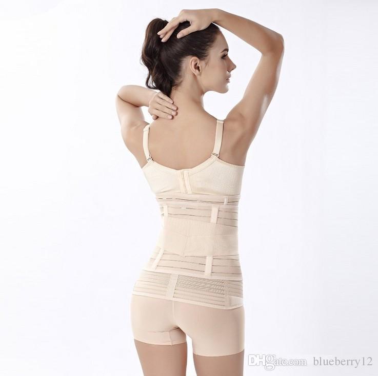 Nuevo Body Sculpting que adelgaza después del parto Postnatal Posparto Mujeres Belly Recovery Belt Panza Wrap Corset Pregnancy Girdle