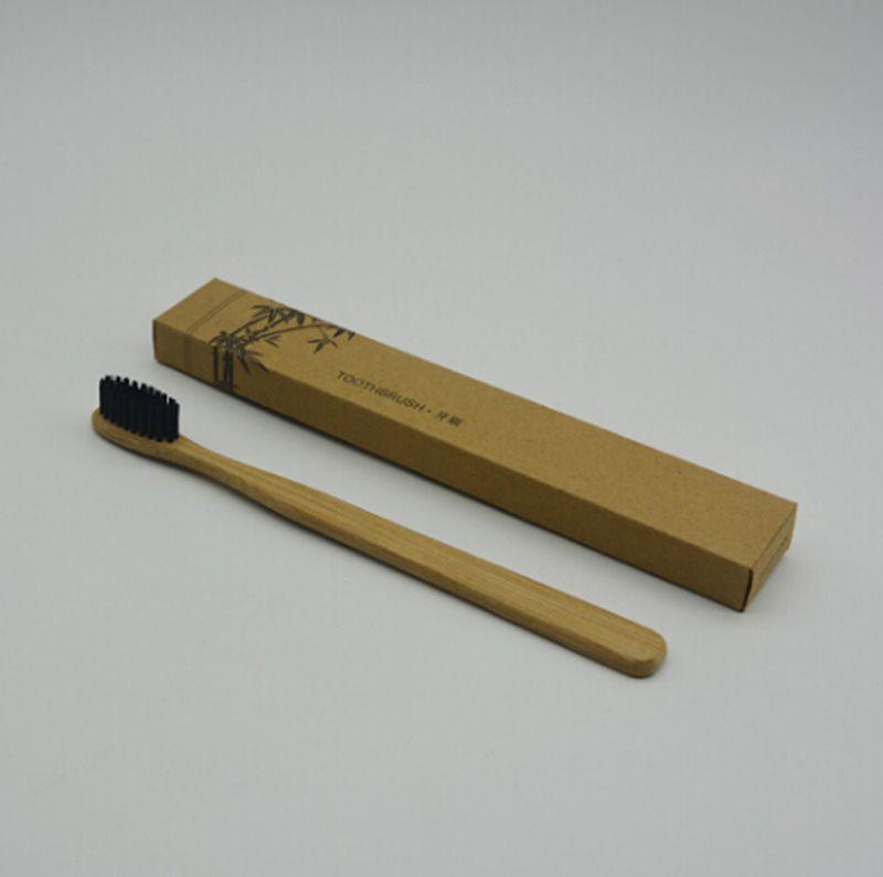 Envío gratuito Cepillo de dientes de bambú personalizado Limpiador de lengua Dentadura dental Kit de viaje Cepillo de dientes