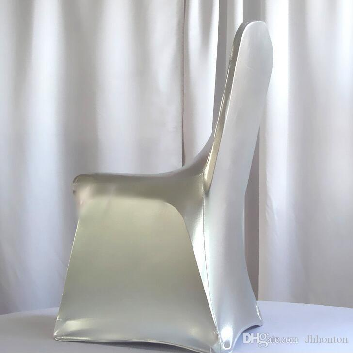 Bronzing Elastic Spandex Chair Cover For Wedding hotel Banquet Use Without handrail chair multicolors WA0105