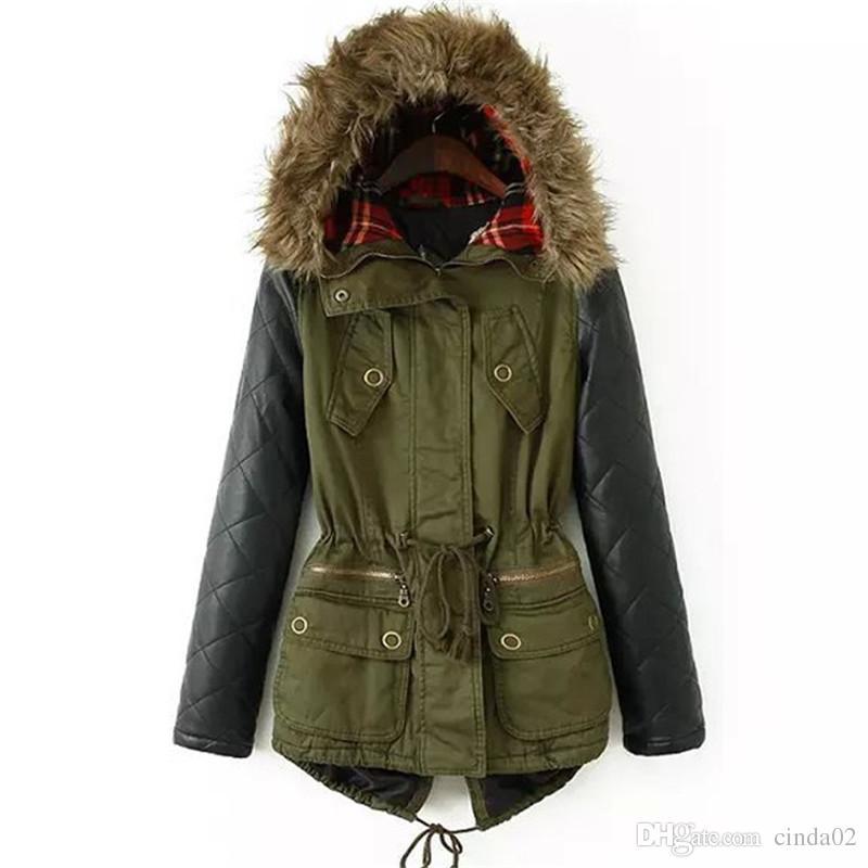 Winter Jacket Women Down Parka Plus Size Cotton Padded Coat Fur ...