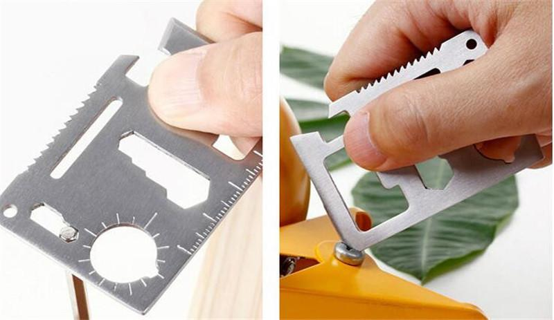 Multipurpose Swiss Army Knife Tool Set Hiking Hunting Travel Camping Field Survival Pocket Wallet Knife Card EDC Outdoor Hand Tools