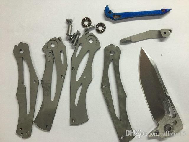 Drop Shipping Transformers Survival Tactical Flipper knife D2 Stone Wash blade TC4 Titanium Handle EDC pocket folding knives