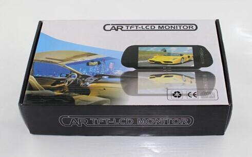 7 pollici monitor auto MP5 Bluetooth TFT LCD 2 vie video in forma fotocamera DVD testa cuscino PAL NTSC retrovisore POST