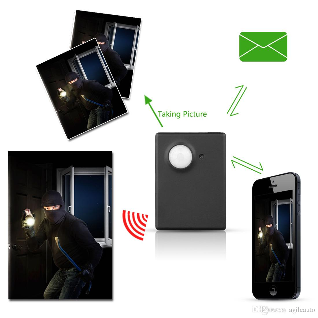 Inalámbrico Mini 1.3M Cámara de infrarrojos Seguridad de video Rastreador GSM Autodial Home Office GPS PIR MMS Sistema de alarma GPS_622
