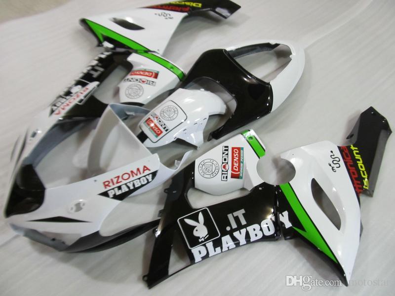 Kit completo de carenado de partes de ABS moto para Kawasaki Ninja ZX6R 2005 2006 carenado verde oscuro set ZX6R 05 06 OT35