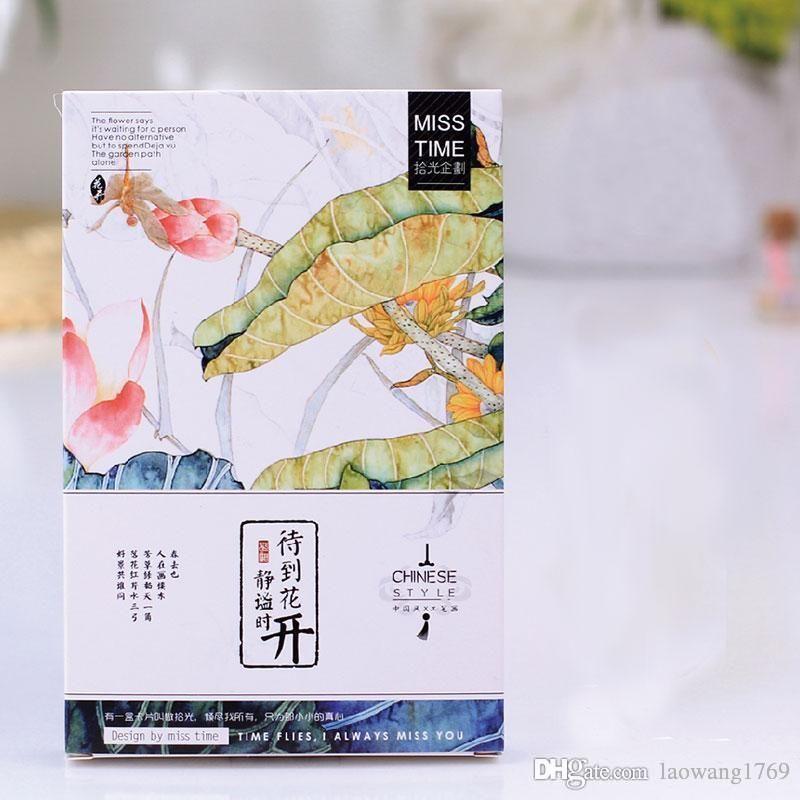 Großhandel 30 Stück / Box Wenn Blumen Blühen Postkarten Kawaii ...