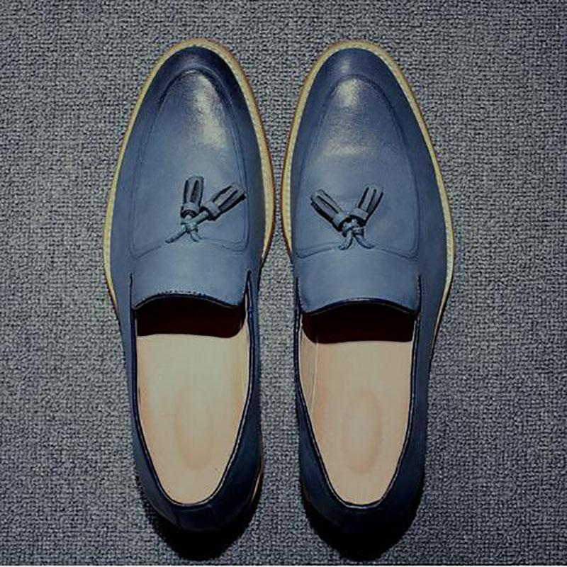 chaussures en cuir de marque de luxe designer mocassins plats plats plats rétro f2fb6e