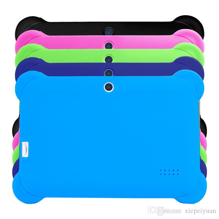 "Kids Child Soft Silicone Rubber Gel Case Cover For 7"" 7 Inch Q88 Q8 A33 A23 Android Tablet pc MID ful"