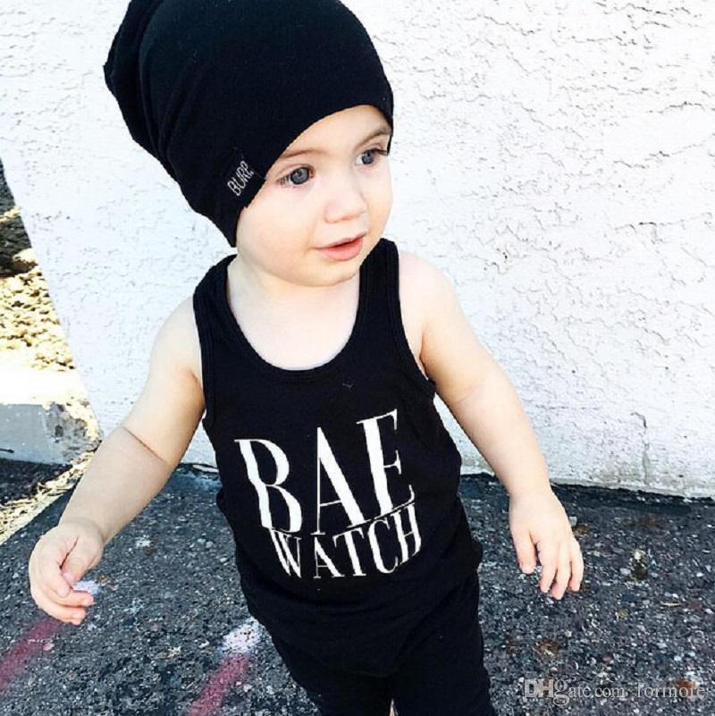 Bebê Unisex Roupas Crianças Roupas Set Infantil Esporte Treino Camisa Colete Preto Listrado Shorts Calças Outfit Crianças Playsuit Terno de Verão
