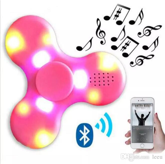 NEW EDC Fidget Spinner with Bluetooth audio and Led Usb Hand Spinner Finger spinner toy EDC Toy For Decompression Anxiety Toys