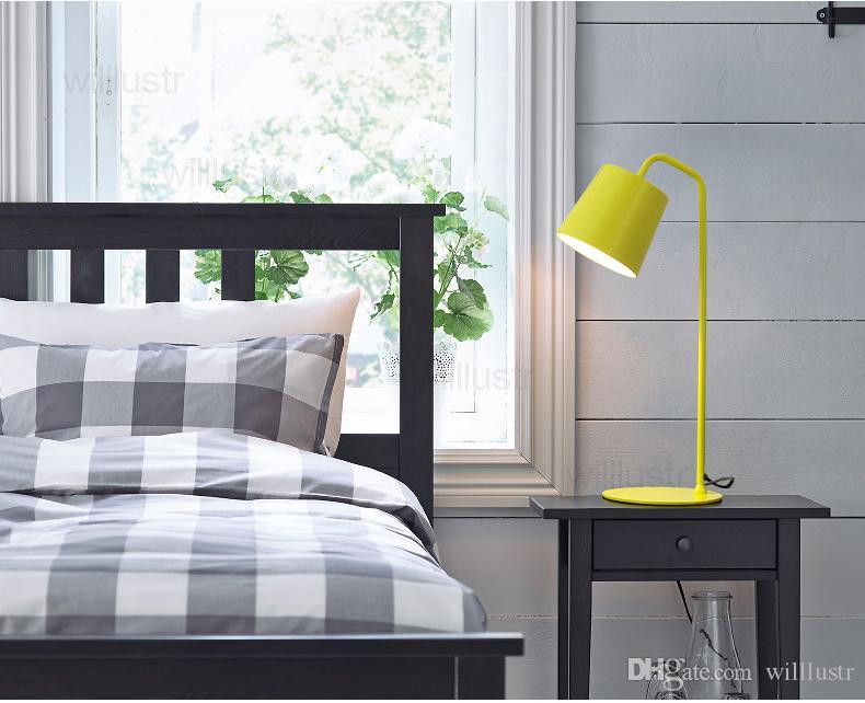 الجدول تنبت الحديثة مصباح معدن مكتب عاكس الضوء طالب الطفل القراءة الخفيفة السرير أريكة غرفة الدراسة الجانب الحديد مصباح غرفة نوم تصميم