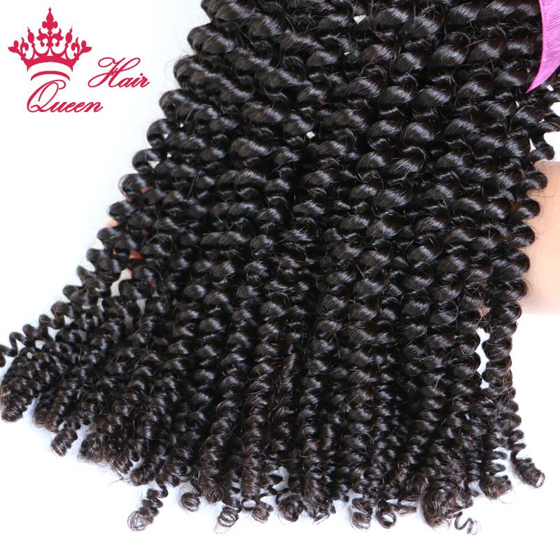 Koningin Haar Geen Tangle Braziliaanse 100% Onverwerkte Maagd Haar Kinky Krullend 10-30 inches 500g / Top Beauty Hair Weave