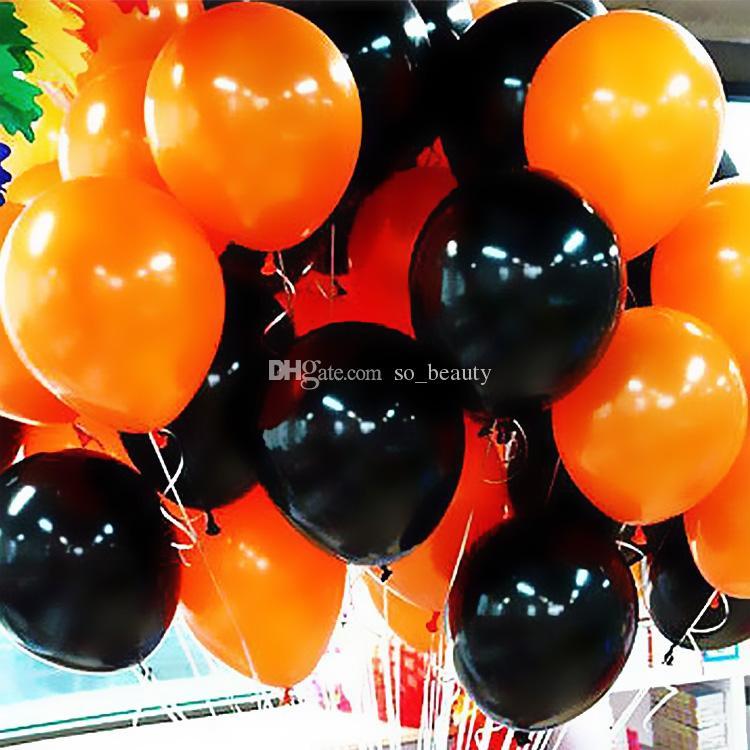 laranja preto látex rodada balão halloween festa decoração de casamento balões de pérola aniversário decoração de casa 12 polegadas