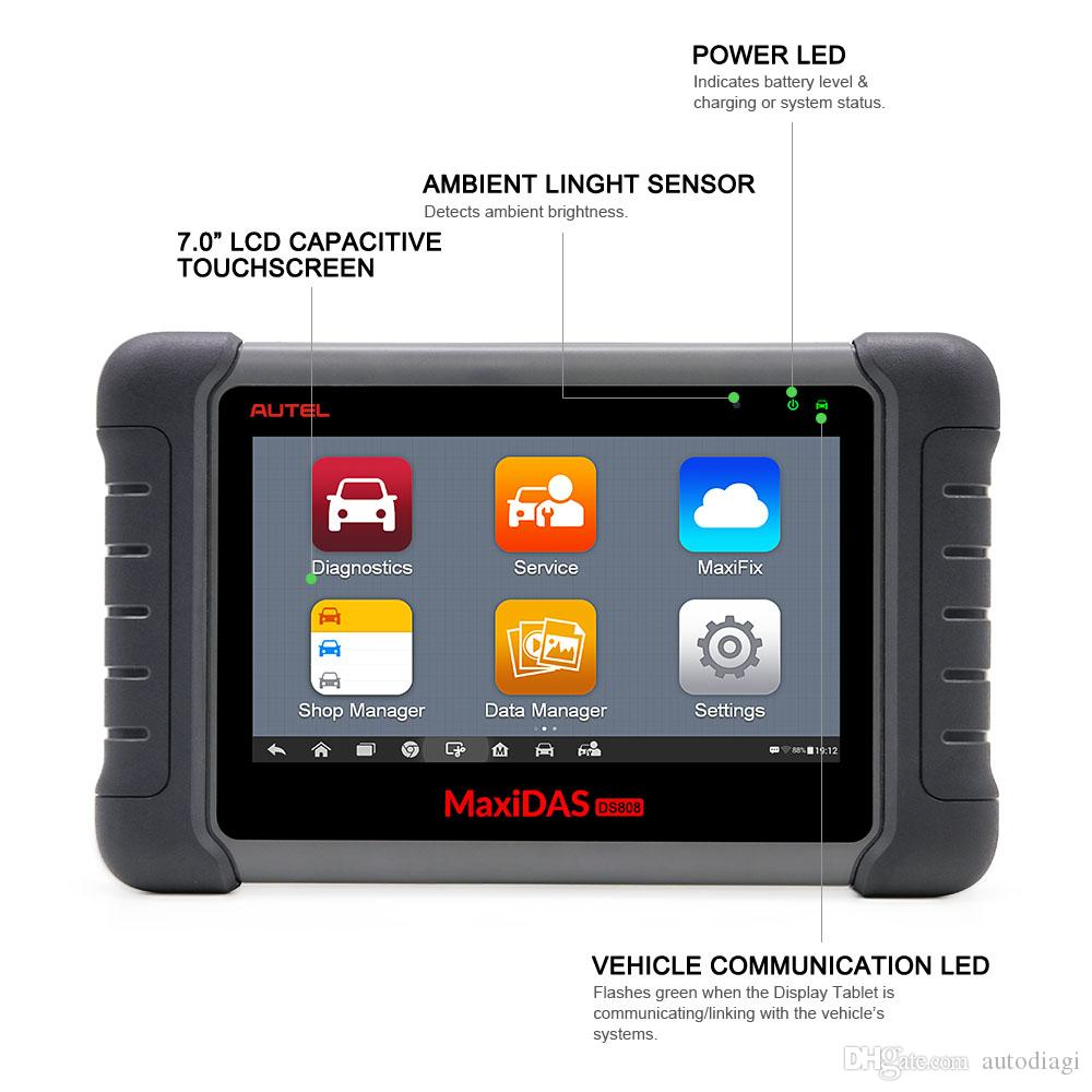 Autel Maxidas DS808 Online Update Automotive Diagnostic Tool Powerful DS 808 Scanner same as autel ms906 better than Autel DS708