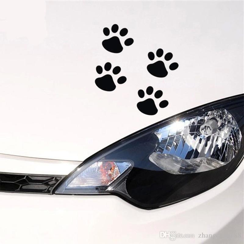 0d9a4b036c66 2019 Personality Funny Stickers 6cm*4 Cat Paw Print Dog Paw Print Bear Paw  Print Creative Footprints Car Stickers Car Decals Pa From Zhangchao188, ...