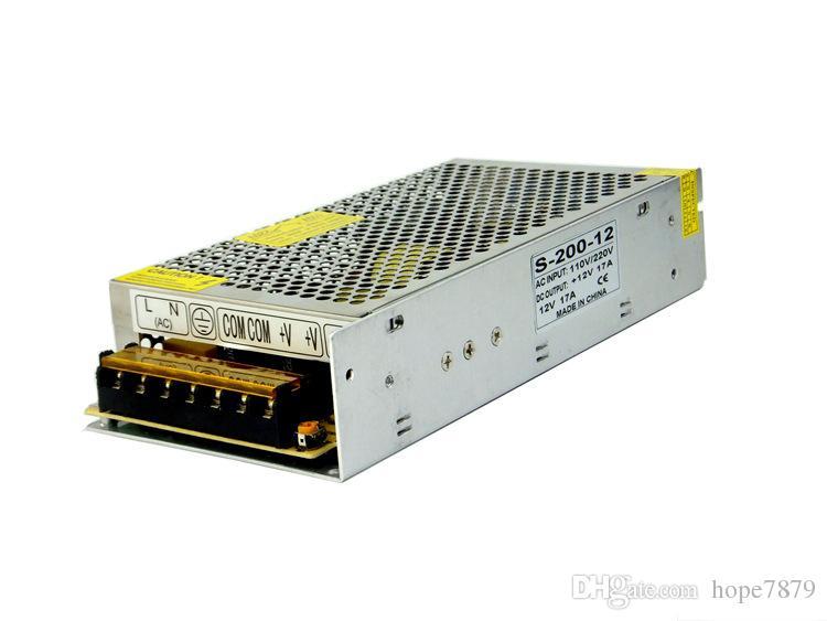 Uscita DC 5V 12V 24V 200W Trasformatori led alimentatore Driver illuminazione interna Accessori ingresso AC 110V 220V