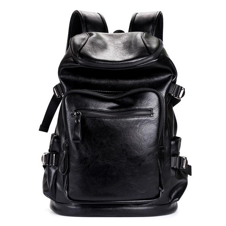 f1facbfad4b6 Factory Wholesale Brand Package Upgrades PU Leather Leisure Men Shoulder Bag  Fashion Multi Function Large Capacity Leather Backpack Travel Bags Online  Kids ...