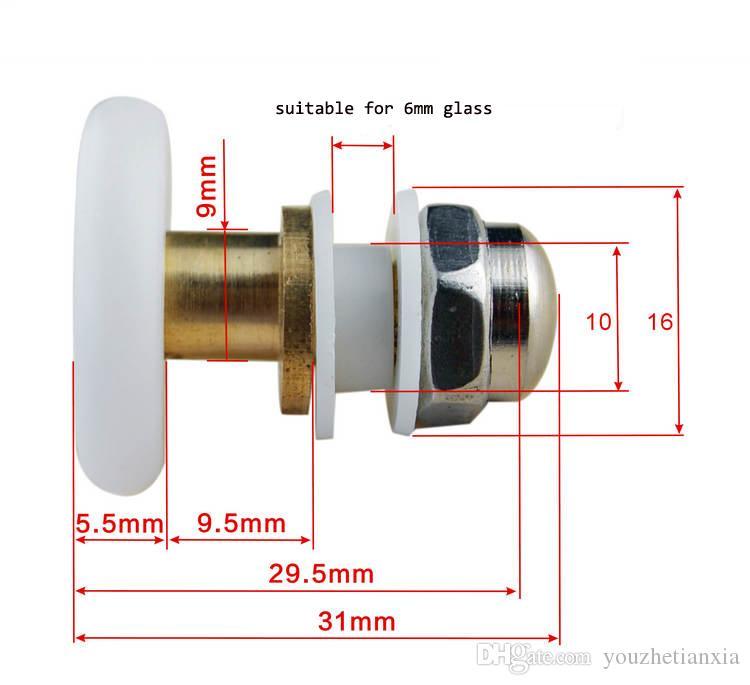 8 pic eksantrik tekerlek Duş odası kasnak banyoda duş sürgülü cam kapı makarası ev repari donanım parçası