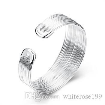 Großverkauf - Kleinster Preis des Kleinhandels Weihnachtsgeschenk, freies Verschiffen, neues Silber Art und Weise 925 Armband B023