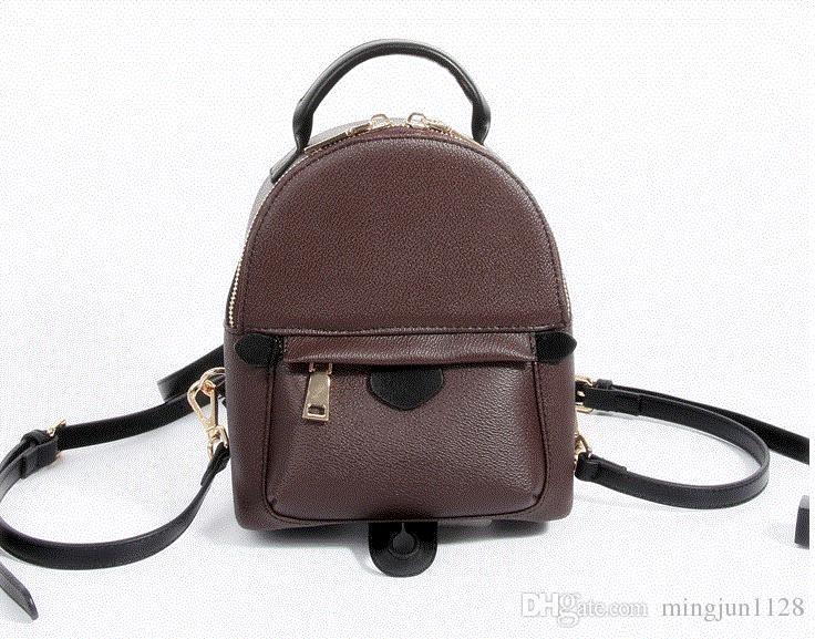 AAAA NEW 2017 BAG 100% Leather NEW PALM SPRINGS BACKPACK MINI Handbag SMALL  NEW PALM SPRINGS BACKPACK MINI HANDBAG School Bags Girls Backpacks  Drawstring ... f051a1816af73