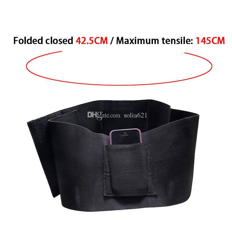 TACTICAL ADJUSTABLE BELLY BAND WAIST WITH 2 POUCHES Inner belts