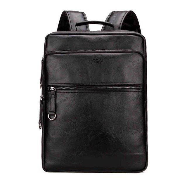 5d0b8520f3 Large Capacity Cool Black Leather Men Backpack Promotion Solid Black Mens  Laptop Backpack Leather Backpack Mochila Girls Backpacks Drawstring Backpack  From ...