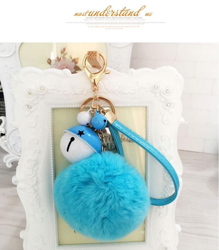 Corea super alta qualità Rex coniglio palla portachiavi auto maschio e femmina catena chiave borsa paio ciondolo regalo K1512
