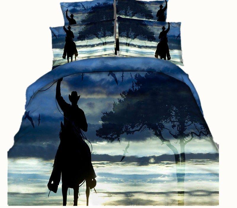 3 Estilos West Cowboy Horse Juegos de cama impresos en 3D Doble tamaño Queen King Size Cubrecamas Ropa de cama Fundas nórdicas Fundas de almohada Cómodas 3 /