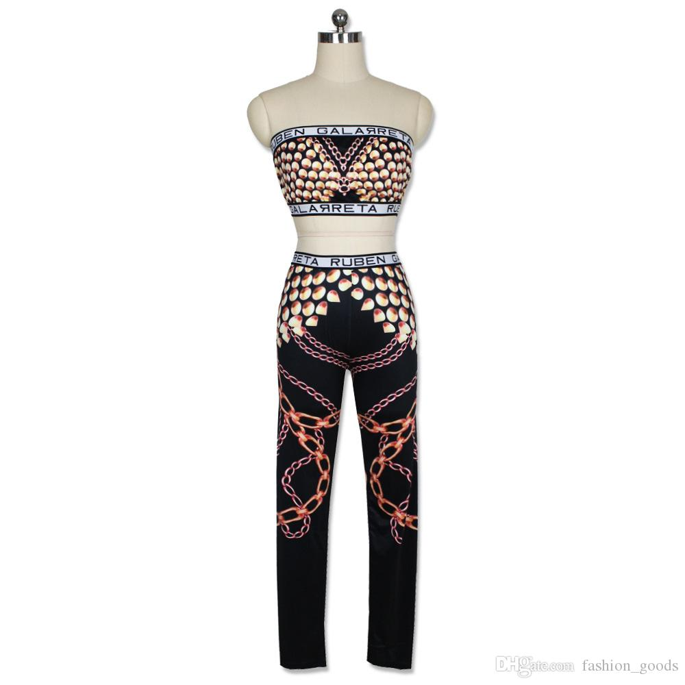 Good A++ Fashion gold python printing yoga sports two suit sexy ladies trousers suit WT011 Women's Tracksuits