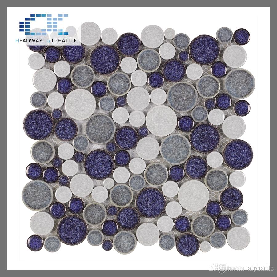 2018 acs 002 glazed penny pebble ceramic tiles purple backsplash see larger image doublecrazyfo Gallery